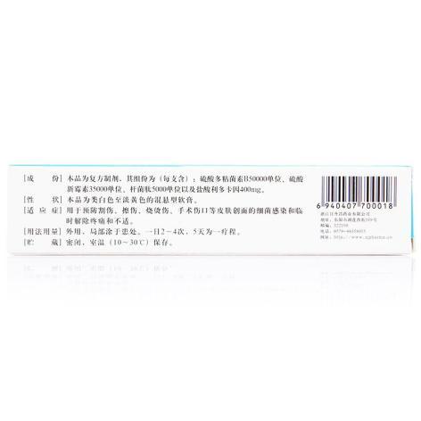 复方多粘菌素B软膏(孚诺)包装侧面图4