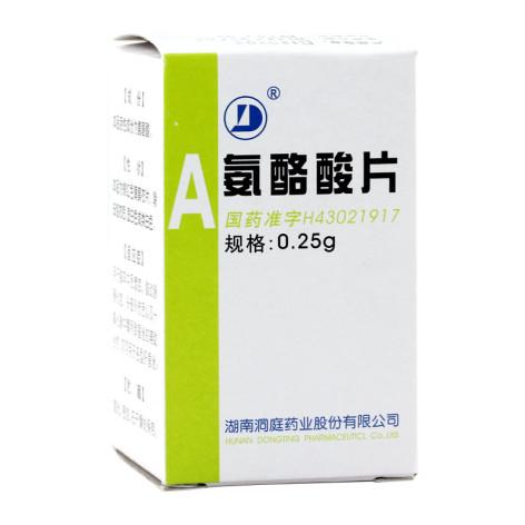 氨酪酸片(洞庭药业)包装侧面图2