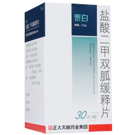 盐酸二甲双胍缓释片(泰白)包装侧面图3