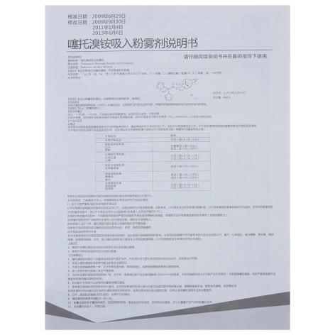 噻托溴铵吸入粉雾剂(彼多益)包装侧面图4