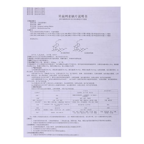贝前列素钠片(德纳)包装侧面图4