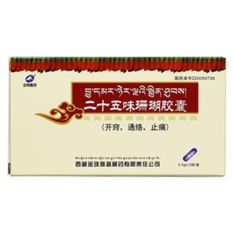 二十五味珊瑚胶囊(金珠雅砻)包装主图
