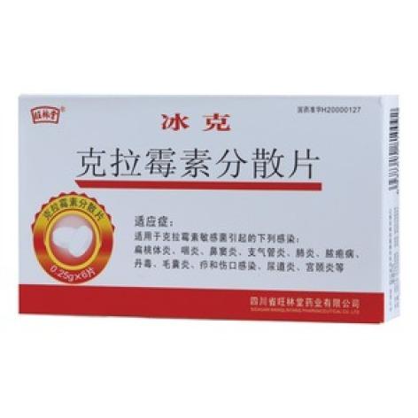 克拉霉素分散片(冰克)包装主图