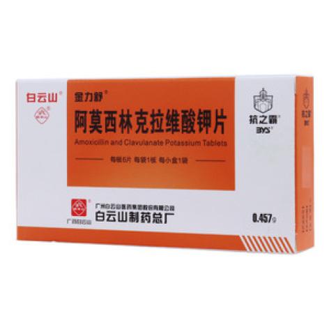 阿莫西林克拉维酸钾片(金力舒)包装主图
